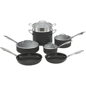 Cuisinart 11-Piece Dishwasher Safe Hard-Anodized Cookware Set for $144