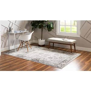 Unique Loom Sofia Collection Traditional Vintage Area Rug, 7' x 10', Gray/Ivory for $106