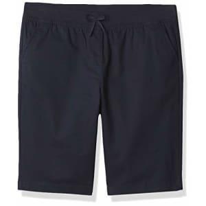 Nautica Girls' School Uniform Stretch Bermuda Short, Navy Pull-On, 5 for $18