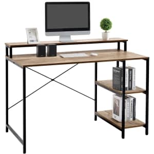 """Linsy Home 47"""" Computer Desk with Monitor Stand for $90"""
