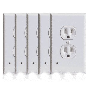 Outlet Cover Plate w/ LED Night Lite 5-Pack for $14