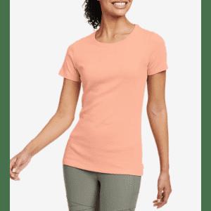 Eddie Bauer Women's Favorite Short-Sleeve Crewneck T-Shirt for $12