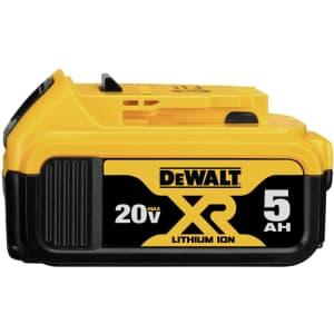 DeWalt 20V MAX XR Lithium Ion 5.0Ah Battery for $80