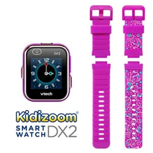 VTech KidiZoom Smartwatch DX2 Special Edition Floral Birds with Bonus Vivid Violet Wristband, Great for $73