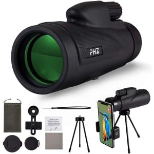 PHZ 12x50 Monocular Telescope for $11