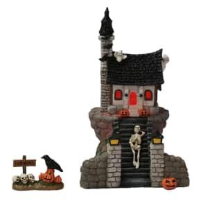 Celebrate Halloween Together Mini Village Stairway Halloween House 2-Piece Set for $20