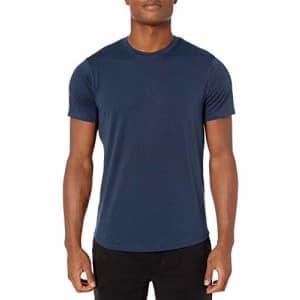 Amazon Brand - Peak Velocity Men's Smart Jersey Lightweight Crew Neck T-shirt, Navy, Medium for $12