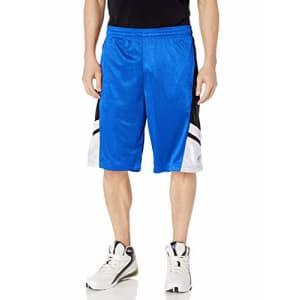 Southpole Men's Big and Tall Basic Basketball Mesh Shorts, Royal, 5XB for $13