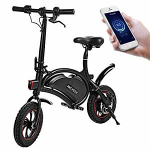 ANCHEER Folding Electric Bicycle E-Bike Scooter 350W Powerful Motor Waterproof Ebike with 15 Mile for $410