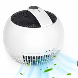 Air Purifier for Allergies, Air Choice True HEPA Filter Air Purifier, Remove 99.97% of Dust Smoke, for $77