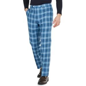 Lauren Ralph Lauren Men's Classic-Fit Plaid Dress Pants for $28
