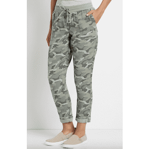 Maurices Women's Camo Weekender Pants for $11