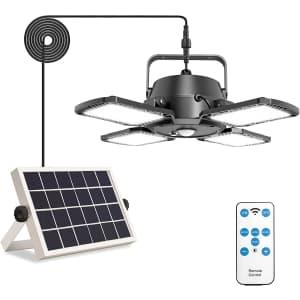 Aqonsie LED Solar Pendant Light for $34