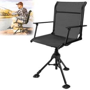 Height-Adjustable Swivel Hunting/Fishing Chair for $84