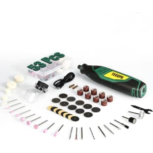 Teccpo 4V 53-Piece Cordless Rotary Tool Set for $38
