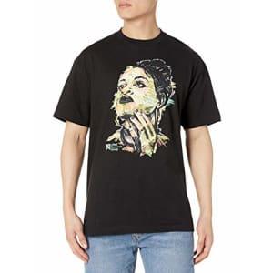 LRG Men's Short Sleeve Logo Design T-Shirt, Black Beauty, L for $20
