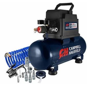 Campbell Hausfeld 3 Gallon Portable Air Compressor with Inflation Kit & Air Hose, w/Accessory Kit for $249