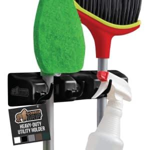 Gorilla Grip 3-Slot Mop and Broom Holder for $7