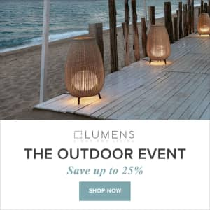 Lumens Outdoor Lighting, Decor, and More Sale Event: Up to 25% off