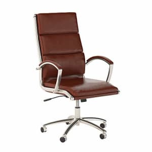 Bush Furniture Bush Business Furniture Series C Elite High Back Leather Executive Office Chair in Harvest Cherry for $307