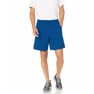 adidas Men's Motion Tech Stretch Shorts, Collegiate Royal/Black, Medium for $64