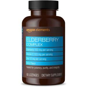 Amazon Elements Elderberry Complex Lozenge 60-Count Bottle for $6