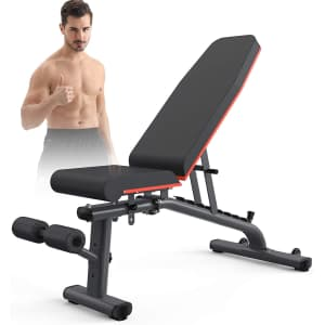 KingStone Adjustable Weight Bench for $58