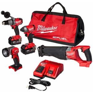 Milwaukee 2896-24 M18 Fuel 4-Tool Combo Kit for $800