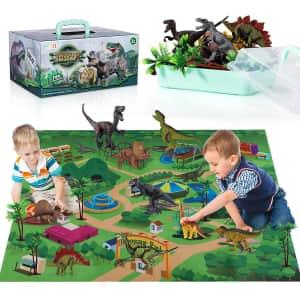 Temi Dinosaur World Play Set for $14