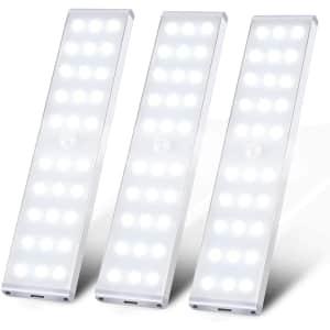 Meqlin LED Under Cabinet Wireless Light 3-Pack for $21