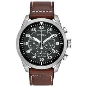 Citizen Men's Eco-Drive Avion Chronograph Watch for $90