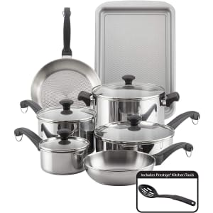 Farberware Classic Traditions Stainless Steel 12-Piece Cookware Set for $104