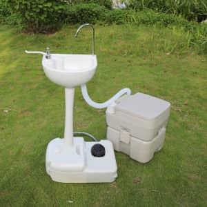 Ktaxon Portable 10L Wash Sink & 20L Toilet Combo for $130