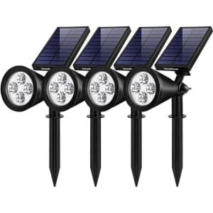 InnoGear Solar Landscape Spotlights 4-Pack for $50