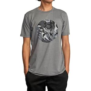 RVCA Men's Graphic Short Sleeve Crew Neck Tee Shirt, Motors SS/Grey Noise, Large for $25