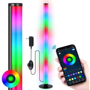 "Angroc 35"" Bluetooth RGB LED Floor Lamp for $39"