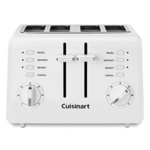 Cuisinart 4-Slice Compact Plastic Toaster for $50