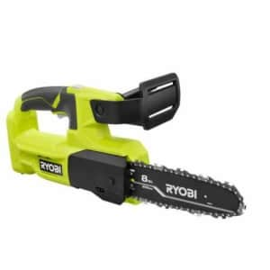 """Ryobi One+ 18V Cordless 8"""" Pruning Chainsaw (No Battery) for $80"""
