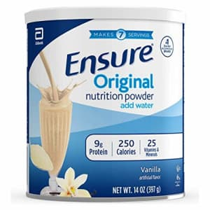 Ensure Original Nutrition Shake Powder with 9 grams of protein, Meal Replacement Shakes, Vanilla, for $27