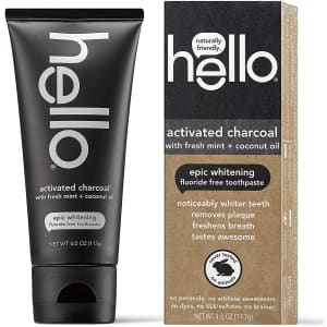 Hello Oral Care Activated Charcoal Toothpaste for $2.98 via Sub & Save