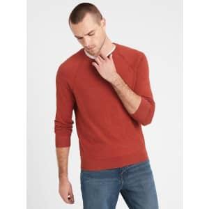 Banana Republic Men's Organic Cotton Raglan Sweater for $16 in cart