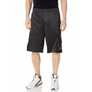 Southpole Men's Big and Tall Basic Basketball Mesh Shorts, Black/Black, 4XB for $13