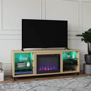 Ameriwood Home Lumina Deluxe Fireplace TV Stand for $423