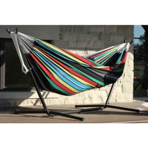 Vivere Double Oasis Hammock with 9ft Stand for $80