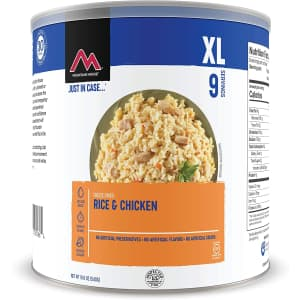 Mountain House Rice & Chicken 19-oz. Can for $18