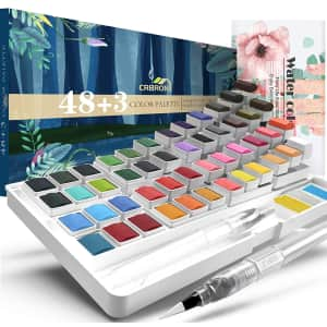 Crbron Watercolor Palette w/ Paper Pad for $16