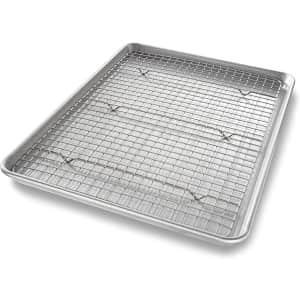 USA Pan Half Sheet Baking Pan w/ Bakeable Nonstick Cooling Rack for $22