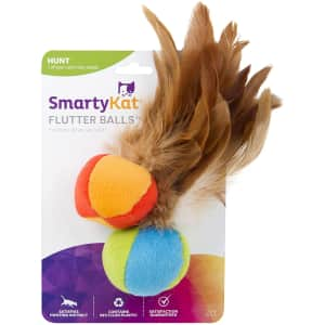 SmartyKat Cat Toys with Feathers 2-Pack for $9