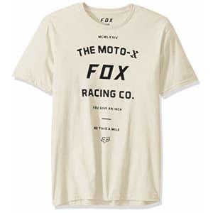 Fox Head Fox Men's VICTORY SHORT SLEEVE PREMIUM T-SHIRT, Bone, 2X for $26