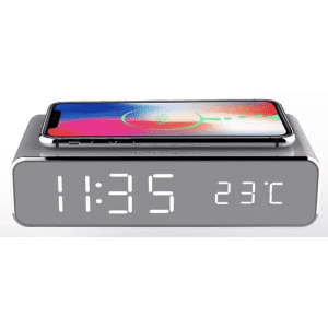 Alarm Clock with Wireless Phone Charging for $17